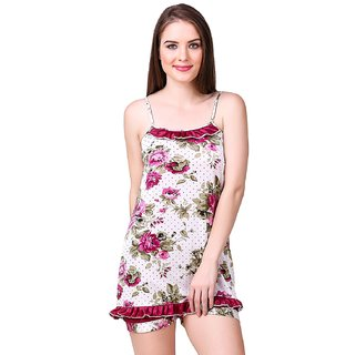 Aloof Women'S Printed Top  Short Set