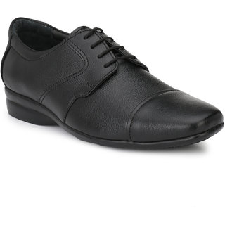 Men's Black Guneine Leather Formal Shoes