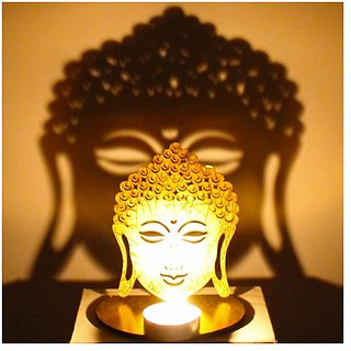 Buddha Shadow with free Tea Light Holder