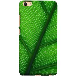 FUSON Designer Back Case Cover For Oppo F3 (Bright Green Leaf Of Tree Full Of Life Network Of Veins)