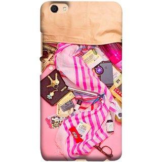 FUSON Designer Back Case Cover For Oppo F3 (Iphone Larabar Key Chains Money Notes Shampoo)