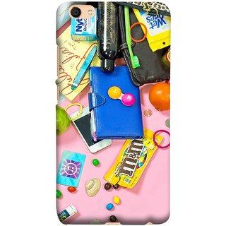 FUSON Designer Back Case Cover For Oppo F3 (Iphone Keys Coins Jellys Sea Shells Purse )