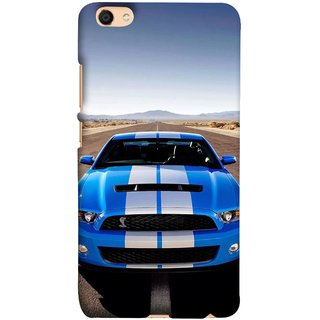 FUSON Designer Back Case Cover For Oppo F3 ( Road Shelby Mustang Engine Shelby Beautiful Blue)