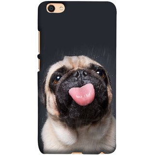 FUSON Designer Back Case Cover For Oppo F3 (Kissing Hanging Out Black And White Cream Colour)