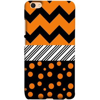FUSON Designer Back Case Cover For Oppo F3 Plus (Pack Craft Paper Orange Dots On Black Background)
