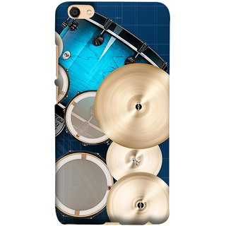 FUSON Designer Back Case Cover For Oppo F3 Plus (Drum Set Musical Instrument Four Piece Shell Pack)