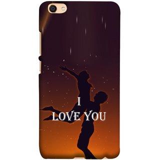 FUSON Designer Back Case Cover For Oppo F3 (I Love You Wallpapers Flowers Lovers Boyfriends )