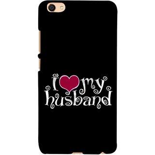 FUSON Designer Back Case Cover For Oppo F3 (Love My Family Husband Hubby Better Half Partner)
