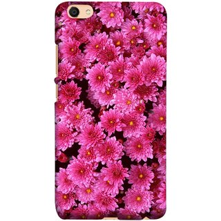 FUSON Designer Back Case Cover For Oppo F3 Plus (Thousands Flowers Magenta Mums Nature Pink)