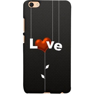 FUSON Designer Back Case Cover For Oppo F3 (Red Hearts Hanging Ropes Free Love Tree Multicolour)
