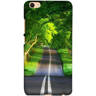 FUSON Designer Back Case Cover For Oppo F3 Plus (Road Surrounded By Mountains Beautiful Old Trees )