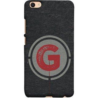 FUSON Designer Back Case Cover For Oppo F3 Plus (Dark Alphabet Circle Vintage Grey Circle Pattern G)