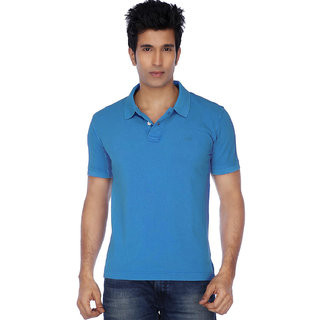 KETEX Mens Sky Blue Polo Collar Tshirt