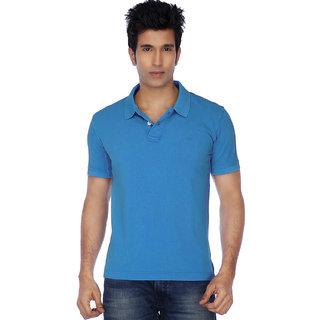 KETEX Mens Sky Blue Polo Collar Tshirt