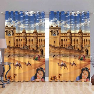 Gladiator Product printed curtains combo of 2 pc