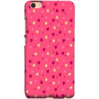 FUSON Designer Back Case Cover For Oppo F3 Plus (Valentine Pink Metallic Cool Peace Sign Symbol Pillow)