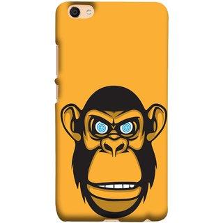 FUSON Designer Back Case Cover For Oppo F3 (Orange Background Open Ears Black Hairs Jungle Nose)