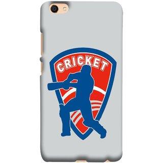 FUSON Designer Back Case Cover For Oppo F3 (County Cricket India Aus England Bat Ball Batsman)