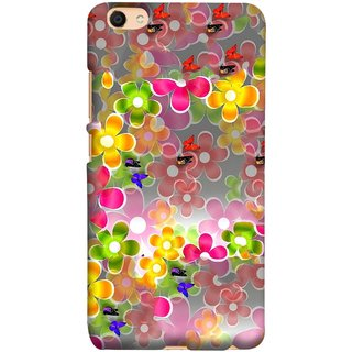FUSON Designer Back Case Cover For Oppo F3 Plus (Butterflies Garden Trees Stars Bright Best Wallpaper)
