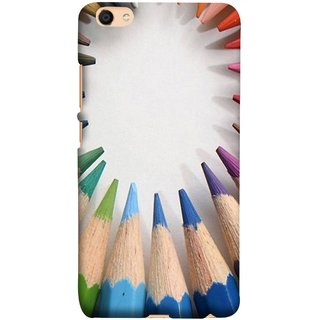 FUSON Designer Back Case Cover For Oppo F3 Plus (Color Circle Bunch Of Pencil Boys Girls Childrens School)