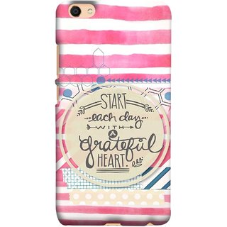 FUSON Designer Back Case Cover For Oppo F3 Plus (Great Hearts Dil Love Everyday Quotes Sunny Bright )