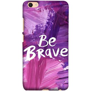 FUSON Designer Back Case Cover For Oppo F3 Plus (Be Strong Always Face Issues Bravery Painting )