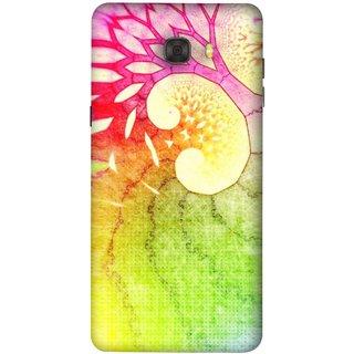 FUSON Designer Back Case Cover For Samsung Galaxy C7 Pro (Colourful Art Design River Shape Random Perfect)