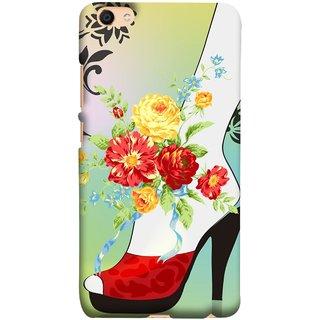FUSON Designer Back Case Cover For Oppo F3 Plus (Nice Shoes Design Red Colour Womens Girls Females )