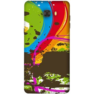 FUSON Designer Back Case Cover For Samsung Galaxy C7 Pro (Forest Nature Whimsical Fantasy Fine Art Spots)