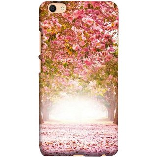 FUSON Designer Back Case Cover For Oppo F3 Plus (Best Road To Walk Flowers Fresh Sunshine Sunny Day )