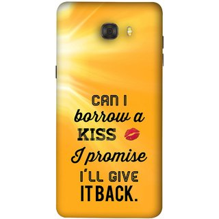 FUSON Designer Back Case Cover For Samsung Galaxy C7 Pro (Lips Kisses I Promise I Will Give It Back Valentine)