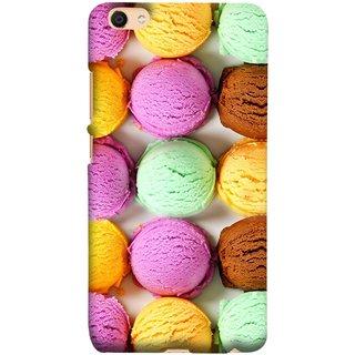 FUSON Designer Back Case Cover For Oppo F3 Plus (Cherry Flowers Hearts Lemons Almonds Cashews Pista)