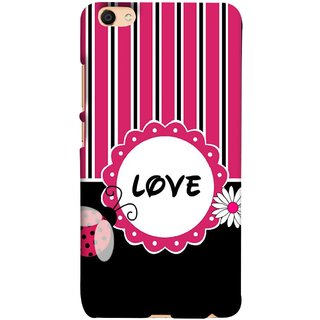FUSON Designer Back Case Cover For Oppo F3 (Pink Black White Vertical Vector Strips Lines Designs)