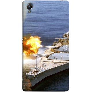 FUSON Designer Back Case Cover For Sony Xperia Z3+ :: Sony Xperia Z3 Plus :: Sony Xperia Z3+ Dual :: Sony Xperia Z3 Plus E6533 E6553 :: Sony Xperia Z4 (Ocean Missile Destroyers Ins Delhi Modern Warships)
