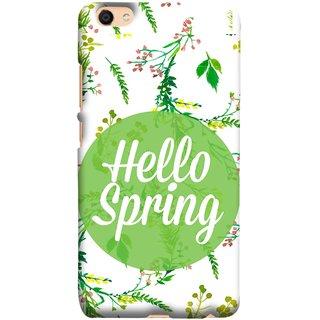 FUSON Designer Back Case Cover For Oppo F3 Plus (Season Banner With Fresh Green Leaves Showering)