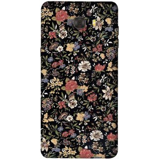 FUSON Designer Back Case Cover For Samsung Galaxy C7 Pro (Cotton Quilt Fabric Susie Butterfly Floral )