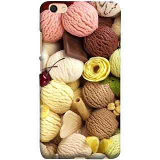 FUSON Designer Back Case Cover For Oppo F3 Plus (Cool Desserts Flavors Banana Chocolate Chips)