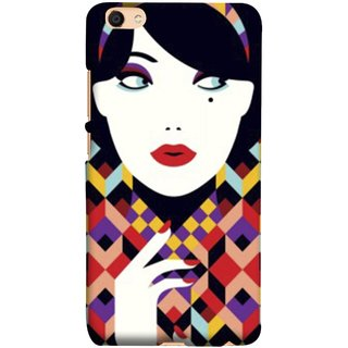 FUSON Designer Back Case Cover For Oppo F3 Plus (Beautiful Portrait Of A Young Enchanting Woman Face)