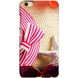FUSON Designer Back Case Cover For Oppo F3 Plus (Tropical Beach In Summer Holiday Toy Table )