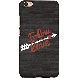 FUSON Designer Back Case Cover For Oppo F3 Plus (Hearts Alone Arrow White Follow Worlds)