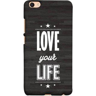 FUSON Designer Back Case Cover For Oppo F3 Plus (Always Love Your Life Fullest For Family )
