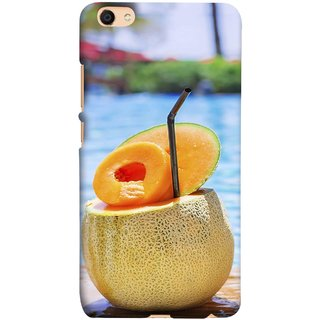 FUSON Designer Back Case Cover For Oppo F3 Plus (Melon Cocktails At Swimming Pool Blue Waters )