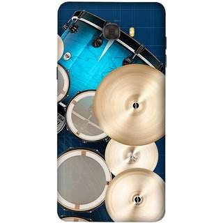 FUSON Designer Back Case Cover For Samsung Galaxy C7 Pro (Drum Set Musical Instrument Four Piece Shell Pack)