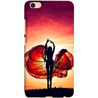 FUSON Designer Back Case Cover For Oppo F3 Plus (Beautiful Female Dancer Silhouette In The Sun )