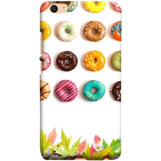 FUSON Designer Back Case Cover For Oppo F3 Plus (Cute Food Donuts Themes For Parties Soft &Amp)