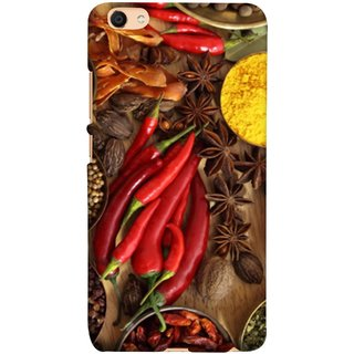 FUSON Designer Back Case Cover For Oppo F3 Plus (Set Of Indian Spices On Wooden Table Powder Spices)