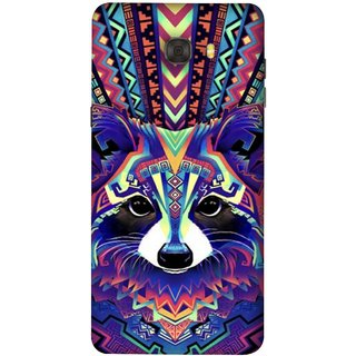 FUSON Designer Back Case Cover For Samsung Galaxy C7 Pro (Dog Cat Kitten Whisker Puppy Triangle Rectangle)