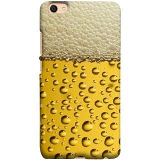 FUSON Designer Back Case Cover For Oppo F3 Plus (Life Hoto Beer Glass Bubble Daaru Drink Wine Fuzzy)