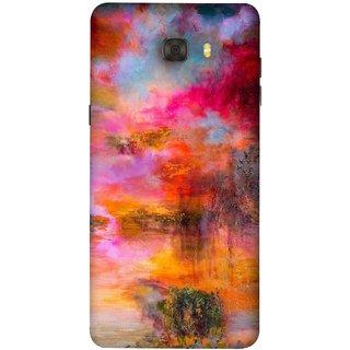 FUSON Designer Back Case Cover For Samsung Galaxy C7 Pro (Random Painting Rare Beautiful Husain Chitrakar Nice)