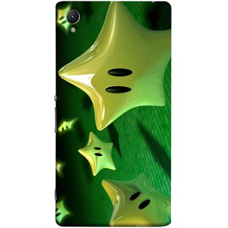 FUSON Designer Back Case Cover For Sony Xperia Z3+ :: Sony Xperia Z3 Plus :: Sony Xperia Z3+ Dual :: Sony Xperia Z3 Plus E6533 E6553 :: Sony Xperia Z4 (Shy Many Gold Star Cartoon Emoji Emotions In Air )